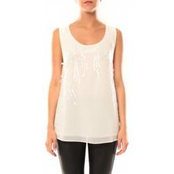 Abbigliamento Donna Top / T-shirt senza maniche De Fil En Aiguille Débardeur Victoria & Karl MX0660 Beige Beige