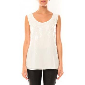 Abbigliamento Donna Top / T-shirt senza maniche De Fil En Aiguille Débardeur Victoria & Karl MX0660 Blanc Bianco