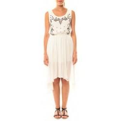 Abbigliamento Donna Vestiti De Fil En Aiguille Robe Victoria & Karl GH0012 Blanc Bianco