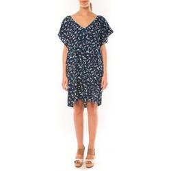Abbigliamento Donna Vestiti Dress Code Robe It Hippie K536-1 Bleu/Blanc Blu