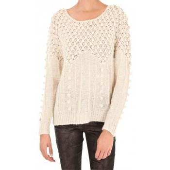 Abbigliamento Donna Maglioni Vero Moda Carrara LS O-Neck Rep 1 10119638 Blanc Bianco
