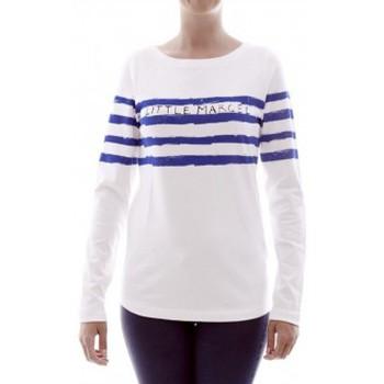 Abbigliamento Donna T-shirts a maniche lunghe Little Marcel T-shirt Tiprint H14IBF213 Blanc Bianco