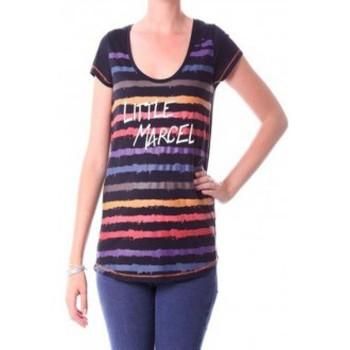 Abbigliamento Donna T-shirts a maniche lunghe Little Marcel T-shirt Tasoli H14IBF033 Noir Nero