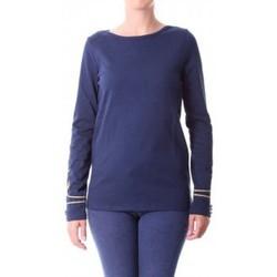 Abbigliamento Donna T-shirts a maniche lunghe Little Marcel T-shirt Tigalon H14IBF240 Bleu Blu