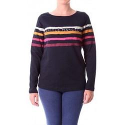 Abbigliamento Donna T-shirts a maniche lunghe Little Marcel T-shirt Tiprint Paint H14IBF190 Noir Nero