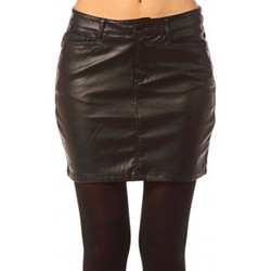 Abbigliamento Donna Gonne Vero Moda Wonder NW Short PU Skirt 10117232 Noir Nero