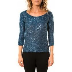 Abbigliamento Donna Maglioni Vero Moda Shine 3/4 Boatneck 10122550 Marine Blu