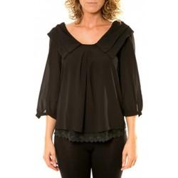 Abbigliamento Donna Camicie Vision De Reve Vision de Rêve Chemisier Col Claudine IP11012 Noir Nero