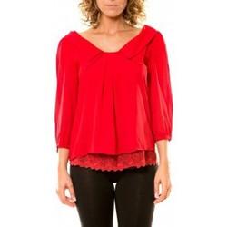 Abbigliamento Donna Camicie Vision De Reve Vision de Rêve Chemisier Col Claudine IP11012 Rouge Rosso