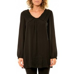 Abbigliamento Donna Camicie Vision De Reve Vision de Rêve Chemisier Col Claudine IP11013 Noir Nero