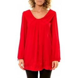 Abbigliamento Donna Camicie Vision De Reve Vision de Rêve Chemisier Col Claudine IP11013 Rouge Rosso
