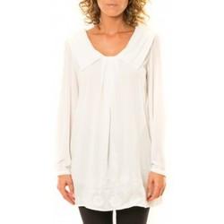 Abbigliamento Donna Camicie Vision De Reve Vision de Rêve Chemisier Col Claudine IP11013 Blanc Bianco