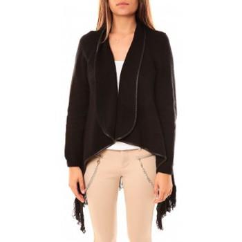 Abbigliamento Donna Gilet / Cardigan Tcqb Gilet Andy Noir Nero