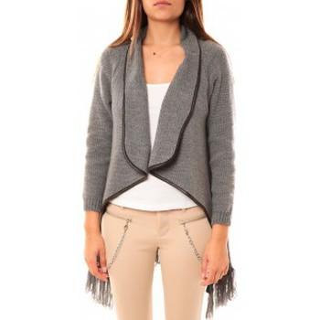 Abbigliamento Donna Gilet / Cardigan Tcqb Gilet Andy Gris Grigio