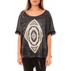 Abbigliamento Donna Maglioni Tcqb Poncho Di&A 0196 Noir Nero
