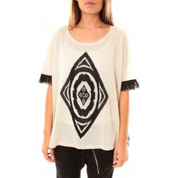 Abbigliamento Donna Maglioni Tcqb Poncho Di&A 0196 Blanc Bianco