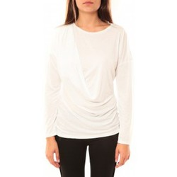 Abbigliamento Donna T-shirts a maniche lunghe Coquelicot T-shirt CQTW14303 Blanc Bianco