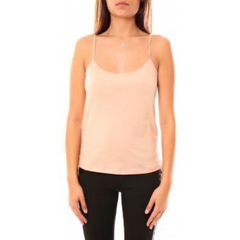 Abbigliamento Donna Top / T-shirt senza maniche Coquelicot Débardeur CQTW14323 Beige Beige