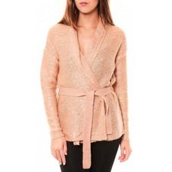 Abbigliamento Donna Gilet / Cardigan Vero Moda Zahra LS Wrap Cardigan 10114389 Vieux Rose Rosa