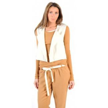 Abbigliamento Donna Gilet / Cardigan American Vintage GILET LEA134 NATUREL Beige