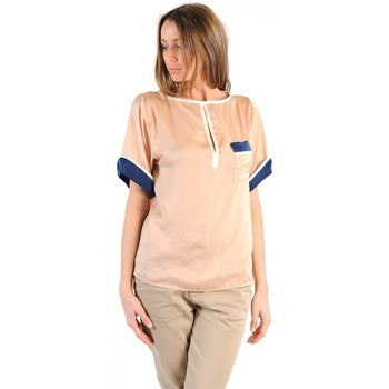 Abbigliamento Donna T-shirt maniche corte Tcqb TOP MIMOSA BEIGE Beige