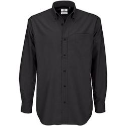 Abbigliamento Uomo Camicie maniche lunghe B And C SMO01 Nero