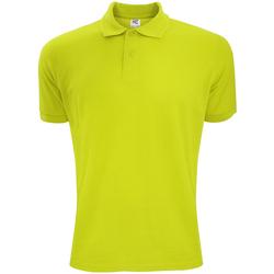 Abbigliamento Uomo Polo maniche corte Sg Polycotton Verde lime