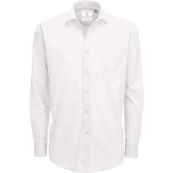 Abbigliamento Uomo Camicie maniche lunghe B And C SMP61 Bianco