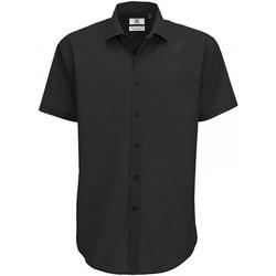 Abbigliamento Uomo Camicie maniche corte B And C SMP62 Nero