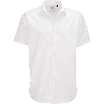 Abbigliamento Uomo Camicie maniche corte B And C SMP62 Bianco