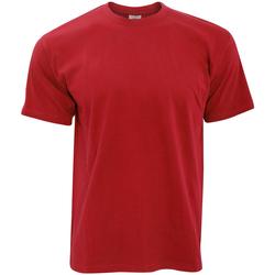 Abbigliamento Uomo T-shirt maniche corte B And C TU004 Rosso