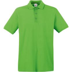 Abbigliamento Uomo Polo maniche corte Fruit Of The Loom 63218 Verde lime