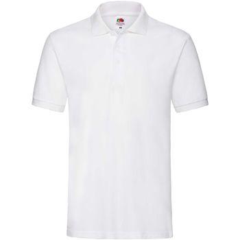 Abbigliamento Uomo Polo maniche corte Fruit Of The Loom 63218 Bianco