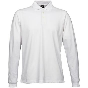 Abbigliamento Uomo Polo maniche lunghe Tee Jays TJ1406 Bianco
