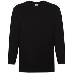 Abbigliamento Uomo T-shirts a maniche lunghe Fruit Of The Loom 61042 Nero