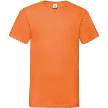 Abbigliamento Uomo T-shirt maniche corte Fruit Of The Loom 61066 Arancio