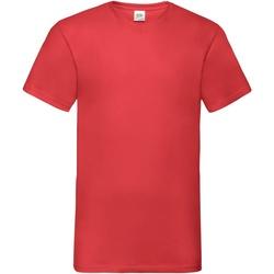 Abbigliamento Uomo T-shirt maniche corte Fruit Of The Loom 61066 Rosso