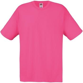 Abbigliamento Uomo T-shirt maniche corte Fruit Of The Loom 61082 Fucsia