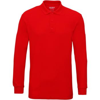 Abbigliamento Uomo Polo maniche lunghe Gildan 85900 Rosso