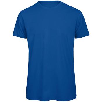 Abbigliamento Uomo T-shirt maniche corte B And C TM042 Blu reale