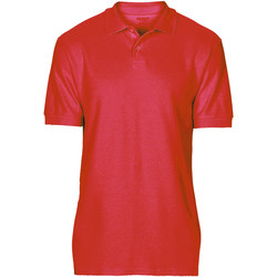 Abbigliamento Uomo Polo maniche corte Gildan 64800 Rosso