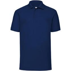 Abbigliamento Uomo Polo maniche corte Fruit Of The Loom 63402 Blu navy
