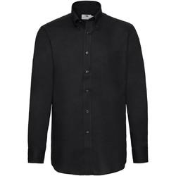 Abbigliamento Uomo Camicie maniche lunghe Fruit Of The Loom 65114 Nero