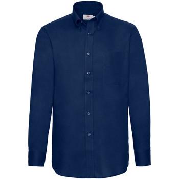 Abbigliamento Uomo Camicie maniche lunghe Fruit Of The Loom 65114 Blu navy