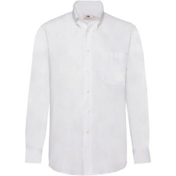 Abbigliamento Uomo Camicie maniche lunghe Fruit Of The Loom 65114 Bianco
