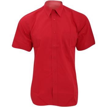 Abbigliamento Uomo Camicie maniche corte Fruit Of The Loom 65116 Rosso