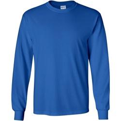 Abbigliamento Uomo T-shirts a maniche lunghe Gildan 2400 Blu reale