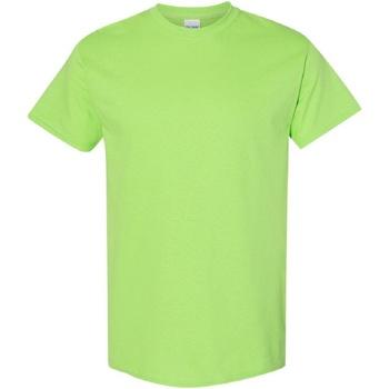 Abbigliamento Uomo T-shirt maniche corte Gildan Heavy Verde lime