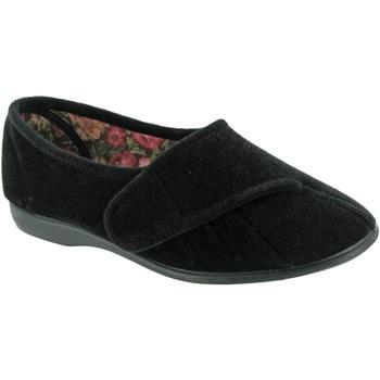 Scarpe Donna Pantofole Gbs Audrey Velcro Nero