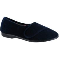 Scarpe Donna Pantofole Gbs Audrey Velcro Blu navy